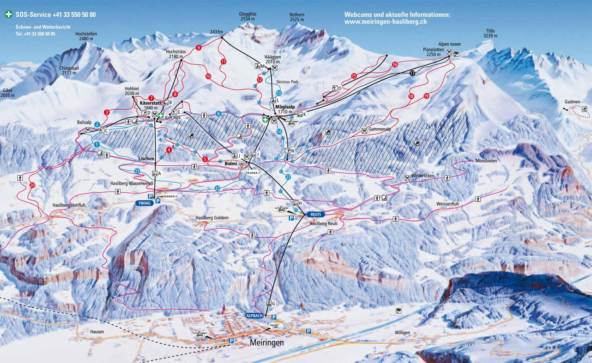Skigebiet Haslital